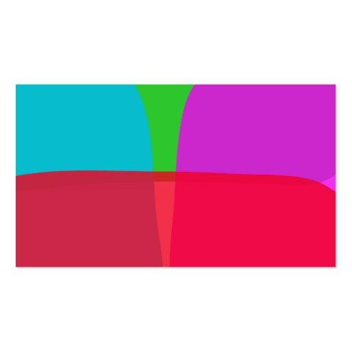 Arte abstracta simples das cores modelo cartao de visita