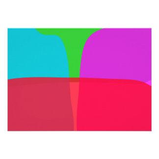 Arte abstracta simples das cores convites personalizados
