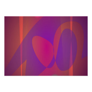 Arte abstracta simples de Avermelhado-Brown Convites