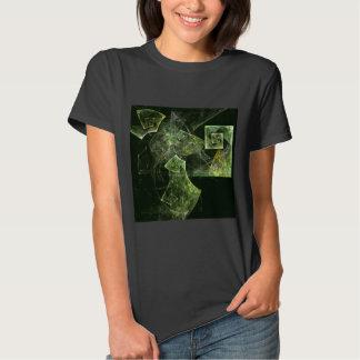 Arte abstracta torcida do equilíbrio camisetas
