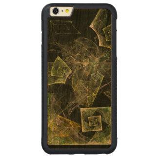 Arte abstracta torcida do equilíbrio capa bumper para iPhone 6 plus de cerejeira, carve