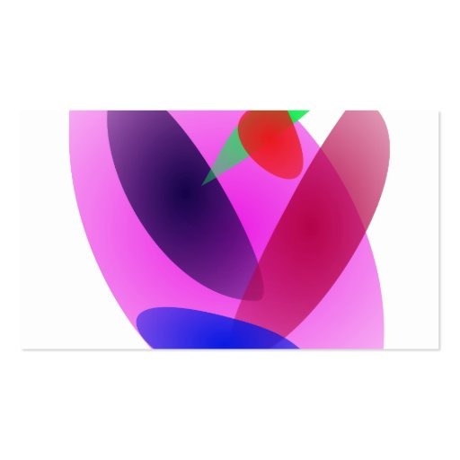 Arte abstracta translúcida simples cartao de visita