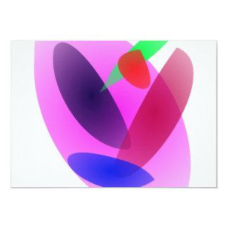 Arte abstracta translúcida simples convites