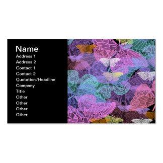 Arte abstracta Transluscent das borboletas Cartão De Visita