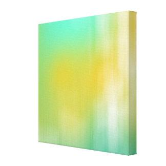 Arte abstracta verde & amarela impressão de canvas envolvida