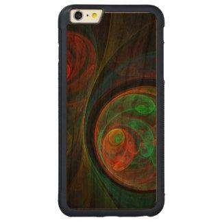 Arte abstracta verde do renascimento capa bumper para iPhone 6 plus de cerejeira, carve