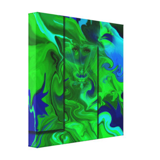 Arte abstracta/verde escondidos lona impressão de canvas envolvida
