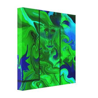 Arte abstracta/verde escondidos lona impressão em tela