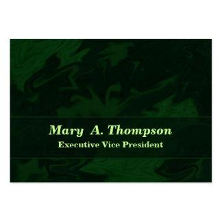 Arte abstracta verde escuro cartão de visita grande