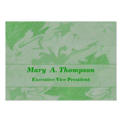 Arte abstracta verde Pastel Modelo Cartões De Visita