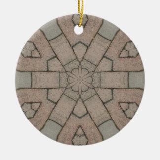 arte abstracta vermelha do kaleidescope dos ornamento de cerâmica