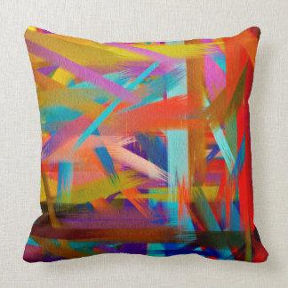 Arte abstrata #12 da cor almofada