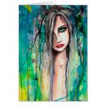 Arte abstrata da fantasia do retrato da mulher da  cartões