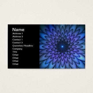 Arte abstrata da flor do índigo e do roxo cartão de visitas