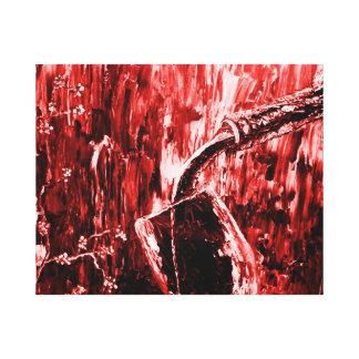 Arte abstrata da parede do vinho tinto