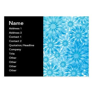 Arte abstrata de Digitas das flores do azul Cartoes De Visita