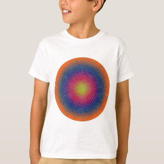 Arte abstrata de Digitas do círculo Camiseta