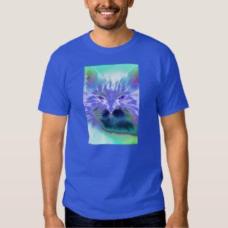 Arte abstrata de Digitas do gato Camiseta