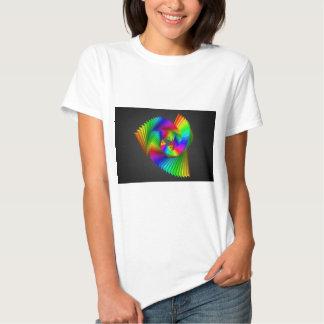 Arte abstrata do design da cor t-shirt