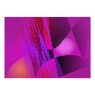 Arte abstrata enevoada simples do equilíbrio convite