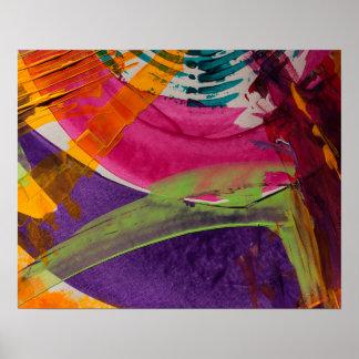 Arte abstrata multi da cor pôster