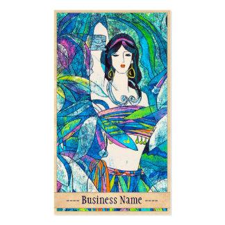 Arte abstrata oriental da senhora do sibilo de Hao Cartão De Visita