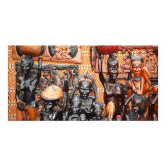 Arte africana cartão com foto