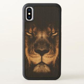 Arte africana da cara do leão