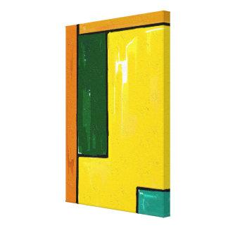 """Arte """"amarela e verde"""" em canvas"""