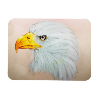 Arte animal branca & amarela, ímã da foto - Eagle