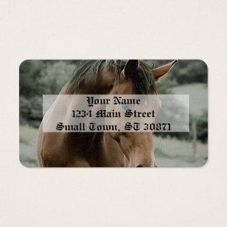 arte animal da pintura do cavalo do vintage cartão de visitas
