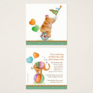 Arte animal gifting do circo dos cartões do livro