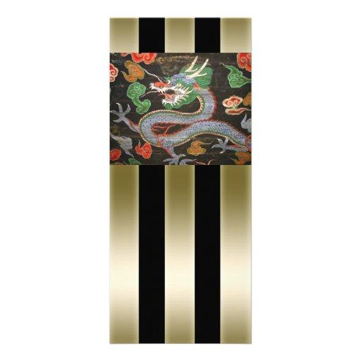 Arte asiática colorida brilhante do dragão convites personalizados