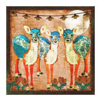 Arte Azure das canvas do jardim do luar dos cervos Impressão Em Tela Canvas
