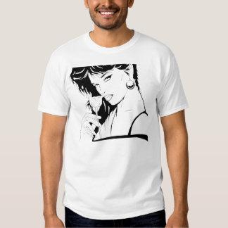 Arte B do salão de beleza do prego Tshirt