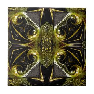 Arte bonita da borboleta do Fractal Azulejo De Cerâmica