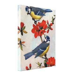 Arte bonita das canvas dos Bluebirds Impressão Em Tela