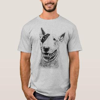 Arte bonito do cão de bull terrier camiseta