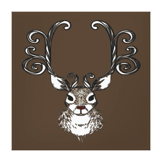 Arte bonito do impressão do marrom dos cervos da