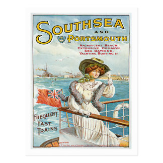 Arte BRITÂNICA do poster das viagens vintage de Cartão Postal