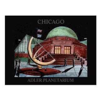 Arte Chicago de Randsom do cartão do planetário de