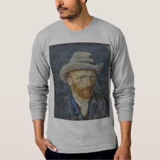 Arte cinzenta da pintura do chapéu de feltro do camisetas