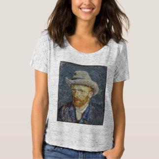 Arte cinzenta da pintura do chapéu de feltro do tshirts