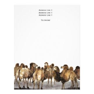 Arte clássica do estilo chinês, rebanho dos camelo papel de carta