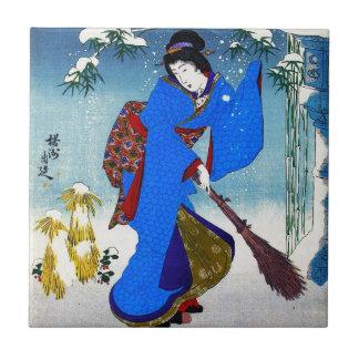 Arte clássica japonesa oriental legal da senhora