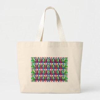Arte colorida abstrata impressionante para os sacola tote jumbo
