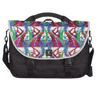 Arte colorida abstrata impressionante para os bolsa para laptop