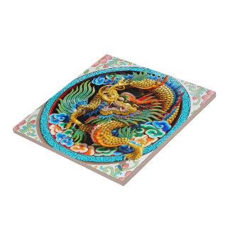 Arte colorida chinesa legal da flor de lótus do
