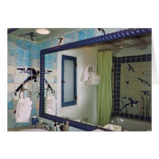 Arte colorida do azulejo cartão comemorativo
