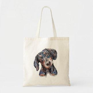 Arte colorida do cão de salsicha do Dachshund Bolsa Tote